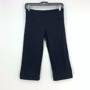 LULULEMON Black Cropped Workout Leggings Size 6